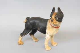 Cast Iron Figural Doorstop Of A Bull Terrier,