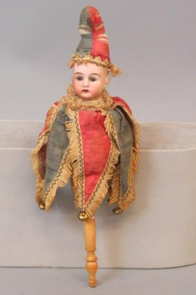 Victorian Bisque Head Musical Doll,