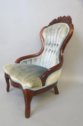 Victorian Style Doll Size Parlor Chair,