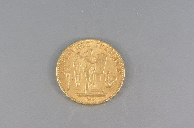 1878 France 20 Francs Gold Coin,