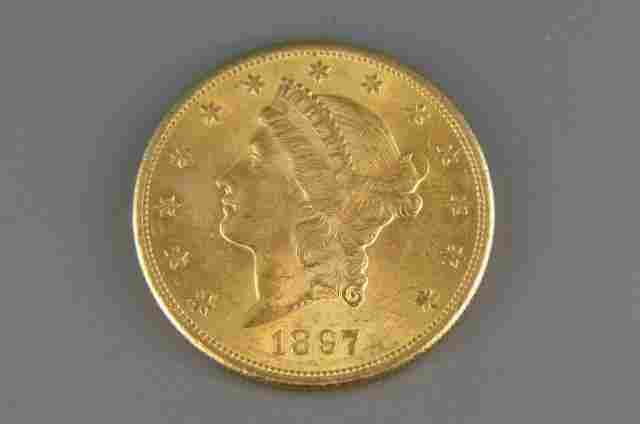 1897-S U.S. $20.00 Liberty Head Gold Coin,