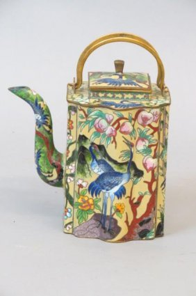Chinese Cloisonne Teapot,