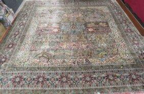 Tabriz Design Chinese Silk Handmade Room Size Rug,