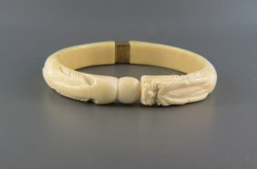 Chinese Carved Ivory Bracelet,