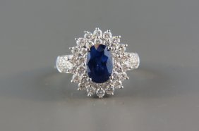 Sapphire And Diamond Ring,