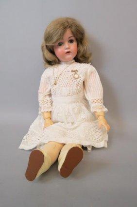 J.d.kestner Victorian Bisque Head Doll,
