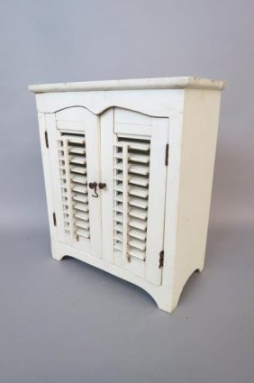 Antique Doll Or Child's Armoire,