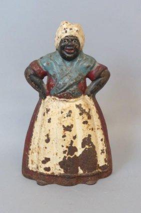 Black Americana Cast Iron Figural Doorstop Of