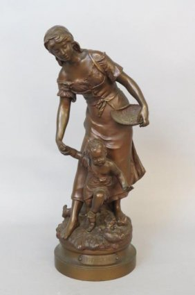 """Auguste Moreau Bronze """"premier Pas"""","""