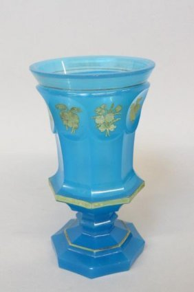 19th Century Blue Opalene Glass Tumbler Or