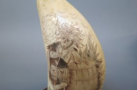 Scrimshaw Whale's Tooth,