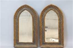 Pair of Italian Florentine Style Arch Mirrors,