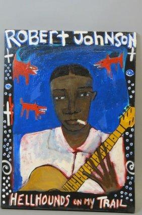 Sister Raya Folk Art Painting Of Robert Johnson,