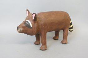 David Alvarez Folk Art Raccoon Figurine,