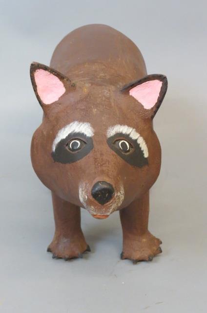 David Alvarez Folk Art Raccoon Figurine, - 2