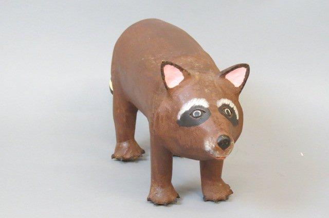 David Alvarez Folk Art Raccoon Figurine, - 4