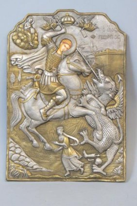 Icon Of St. George Slaying A Dragon,