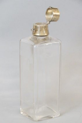 Hawkes Engraved Glass And Sterling Decanter,