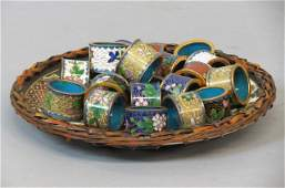 20 Chinese Cloisonne Napkin Rings