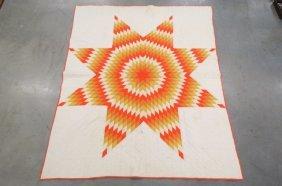"Antique Handmade Quilt ""texas Star"" ,"