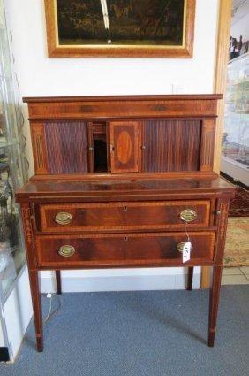 Tambour Desk, fine inlaid,