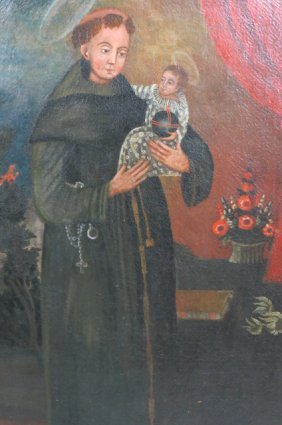 19th Century Religious Oil Painting,
