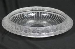 Lalique Crystal Marguerites Centerpiece Bowl