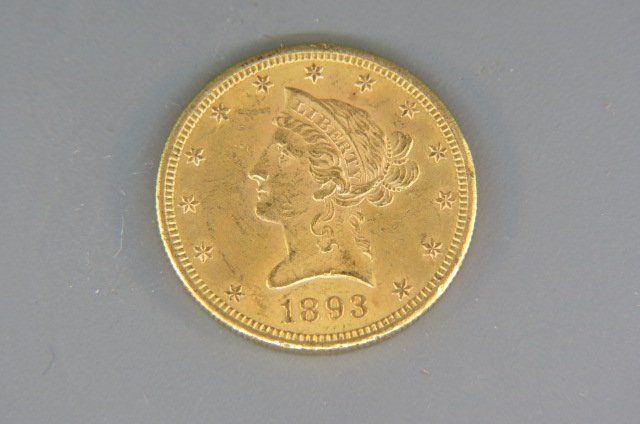 1893-S U.S. $10.00 Liberty Head Gold Coin,