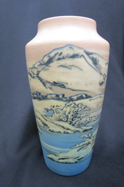 Rookwood Art Pottery Vase with Japanese Landscape