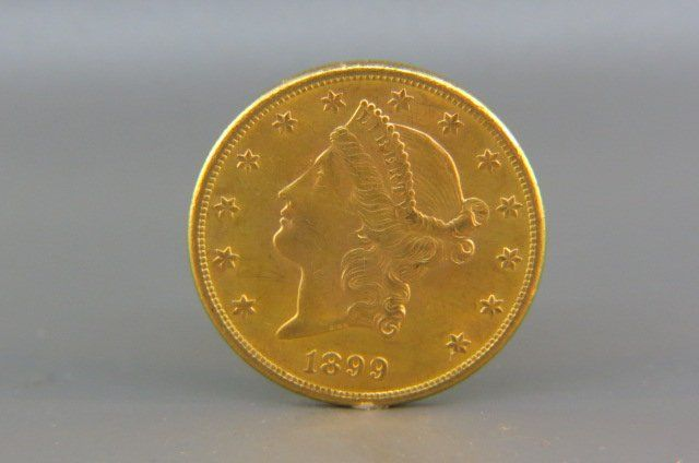 1899-S U.S. $20.00 Liberty Head Gold Coin,