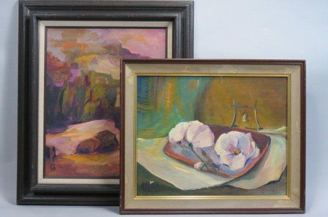 2 Margaret Kelly Oil Paintings,