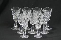 9 Waterford Alana Cut Crystal Sherry Glasses