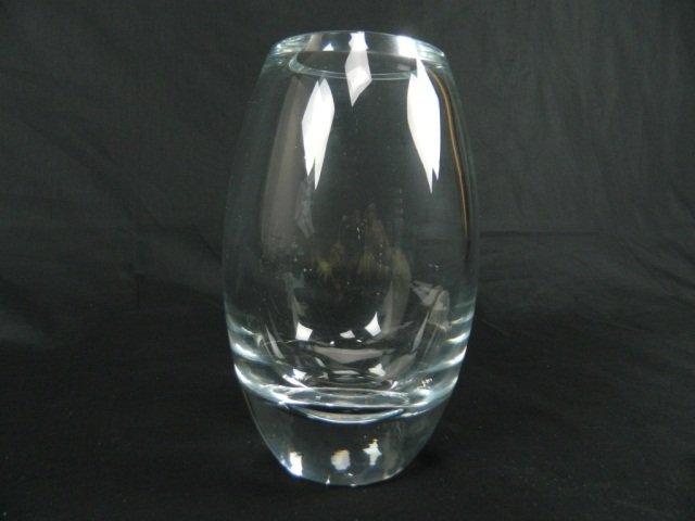 "1: Sleek Vintage Art Glass Clear 9.25"" High"