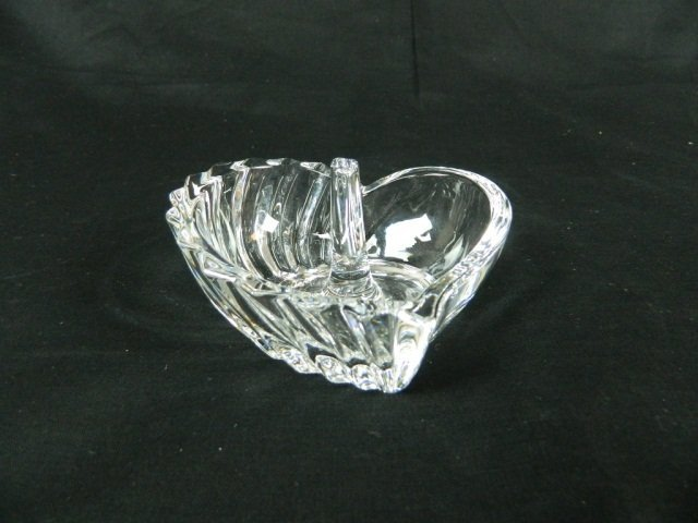 3: Crystal Glass Heart Shaped Ring and Jewelry Holder