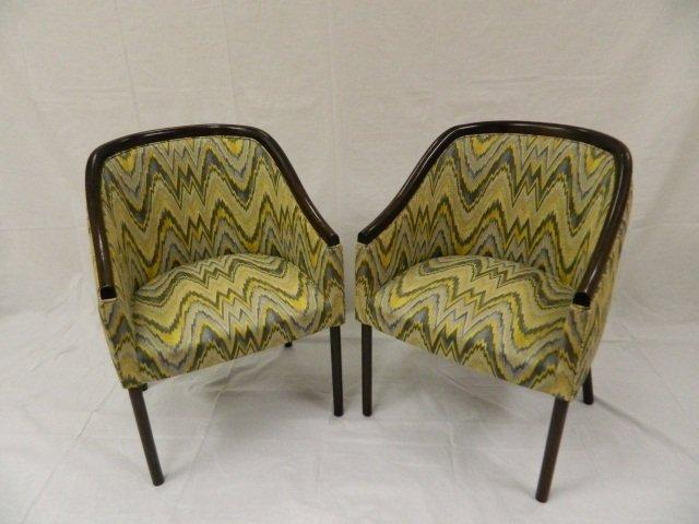 5: 2 Vintage Club Style Chairs Midcentury Modern