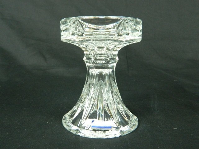 9: Marquis Waterford Crystal Pillar Candle Holder