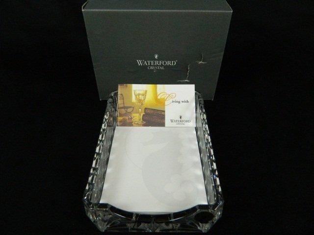 11: Waterford Crystal Westover Notepad Holder