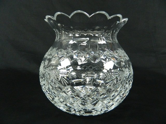 """14: Waterford Crystal  Bouquet Pineapple 8"""" Vase"""