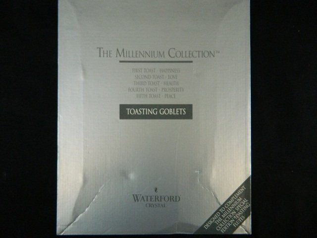 17: Waterford Millenium Collection Toasting Goblets