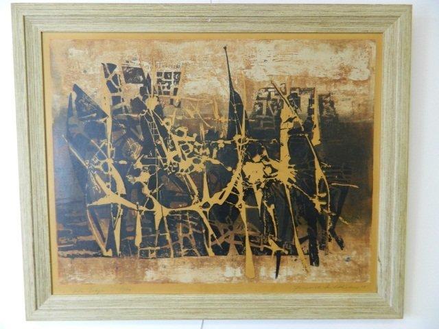 19: A 1959 Heinrich Wilthelm Painting Titled Vor Troja