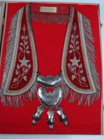 40: Hudson Bay Silver 3 Beaver Gorget Bear Clan Collar