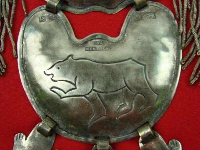 40: Hudson Bay Silver 3 Beaver Gorget Bear Clan Collar - 5