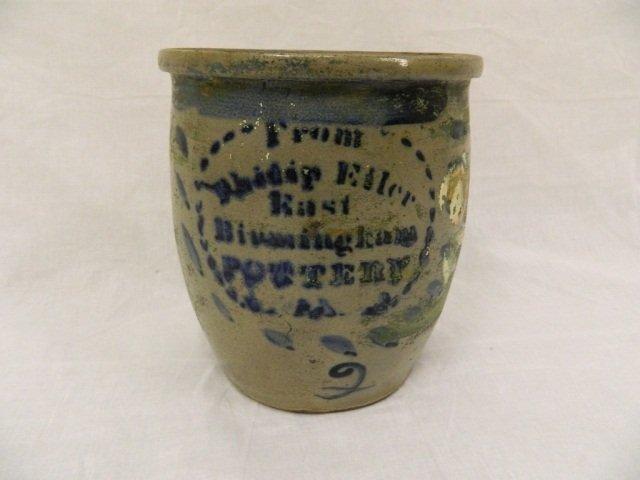 "140: 10"" Eiler East Birmingham Stoneware Pottery Crock"