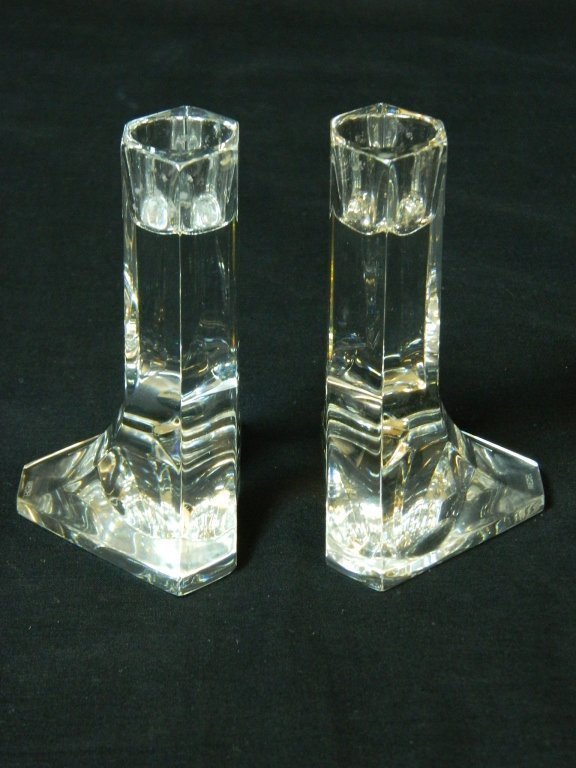 Riedel Modern Leaded Crystal Candle Stick Holders