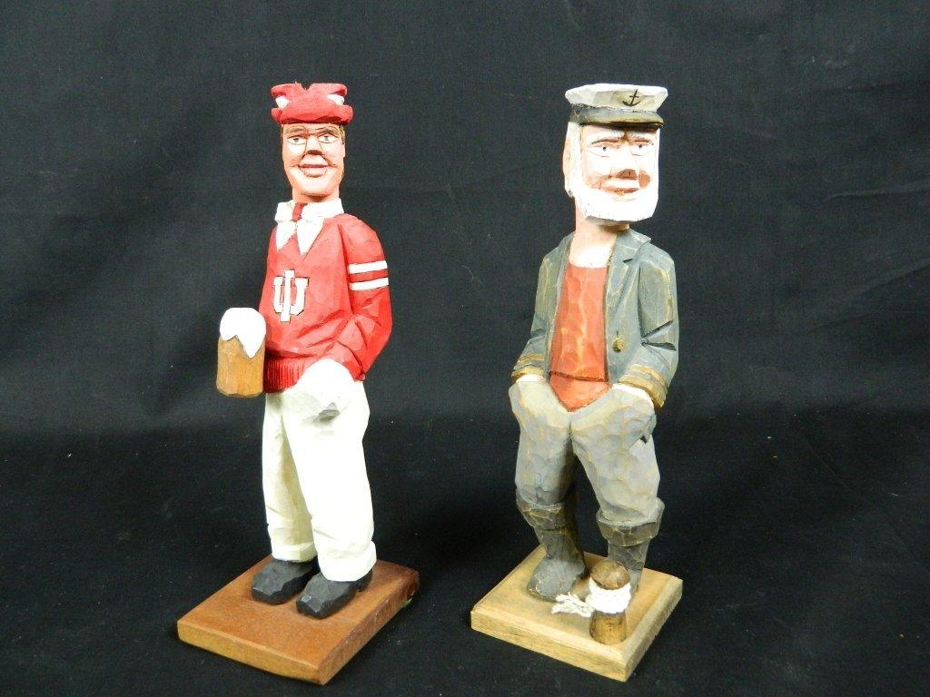 Carved Wood Figurines Indiana University & Sailor