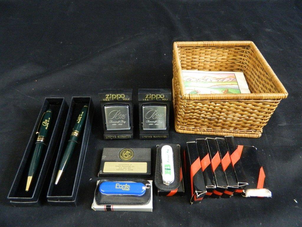 Zippo Tape Measures W/ Swiss Army Knives & Pen Lot