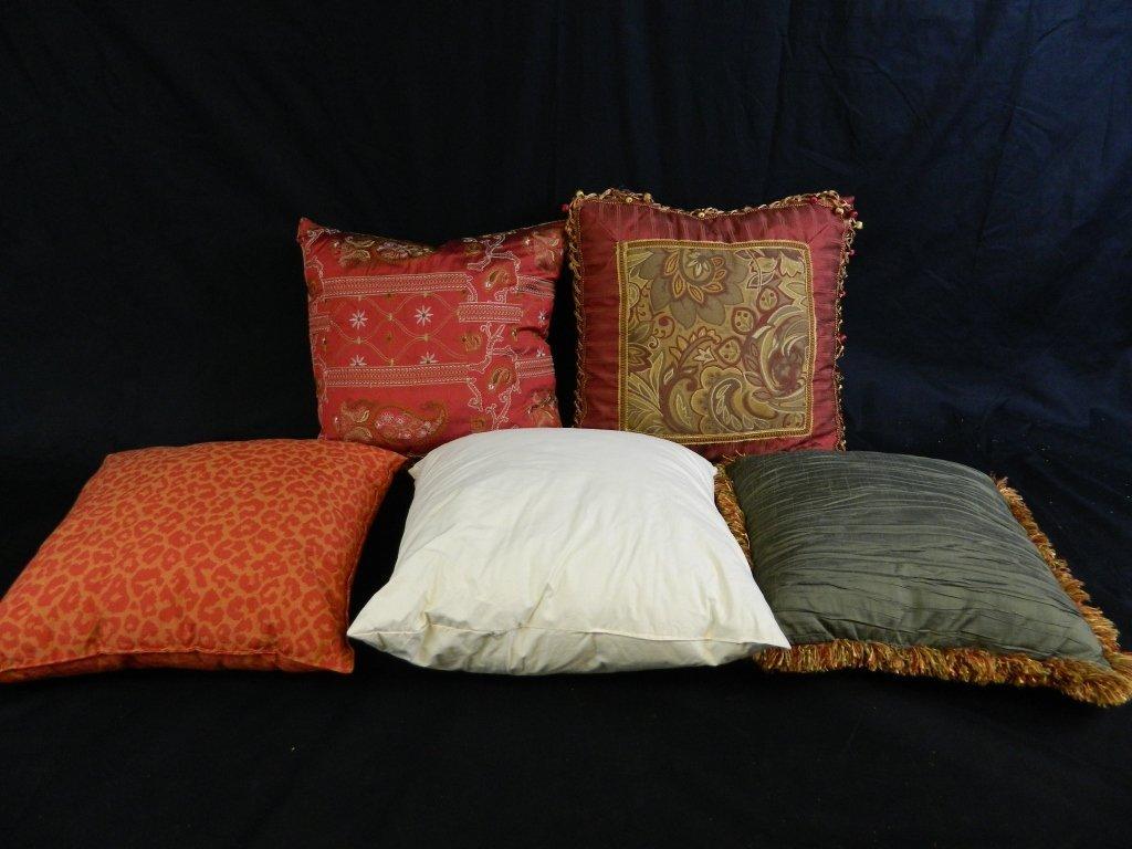 Lot Of 5 Decorative Throw Pillows