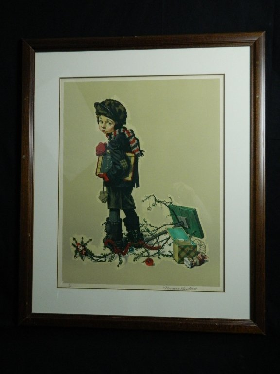 Norman Rockwell Lithograph Pencil Signed & Numbered