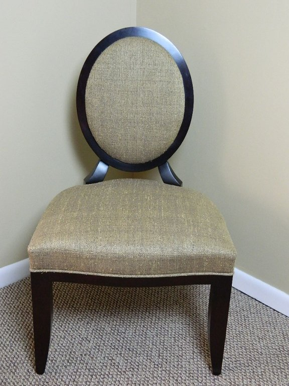 Oval X -Back Upholstered Side Chair by Baker