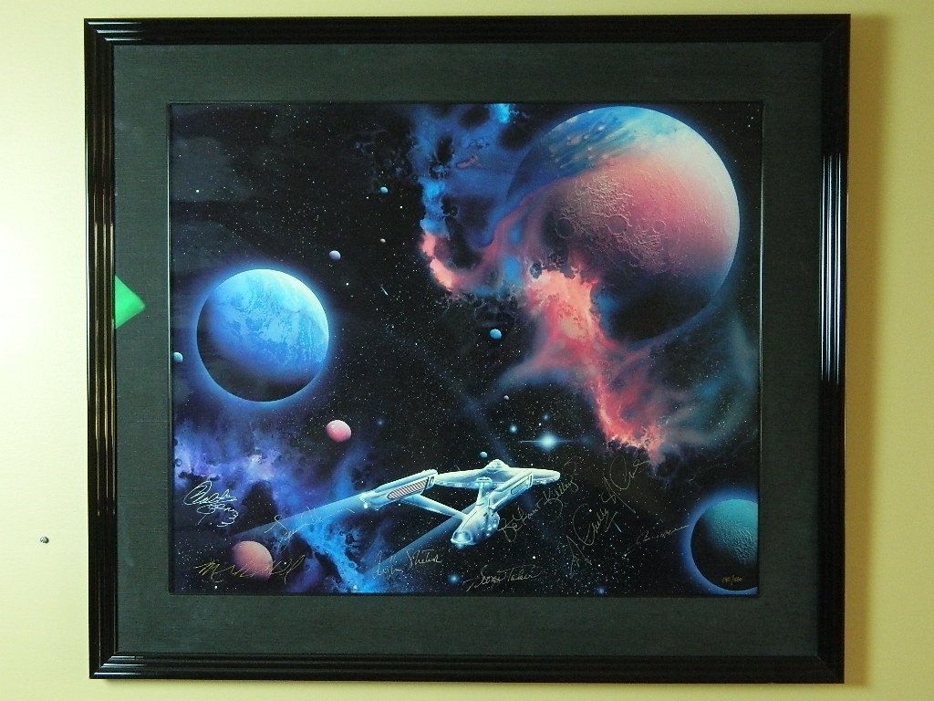 Signed - Star Trek Cibachrome - 2nd Star Right